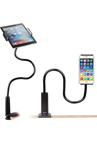 Wlue Flexible Masaüstü Tablet ve Telefon Tutucu 75 cm Siyah