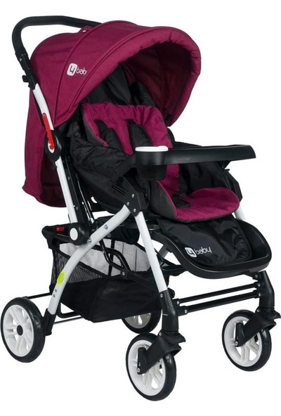 4 Baby Çift Yönlü Bebek Arabası - Mor