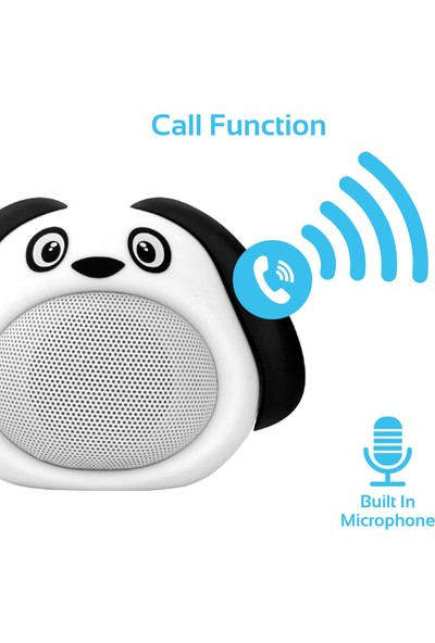 Promate Snoopy Bluetooth Hoparlör Çocuk Tip Köpek Tema Mikrofonlu 3W Şarjlı