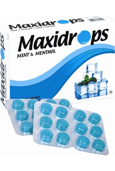 Maxidrops Nane & Mentol Boğaz Pastili