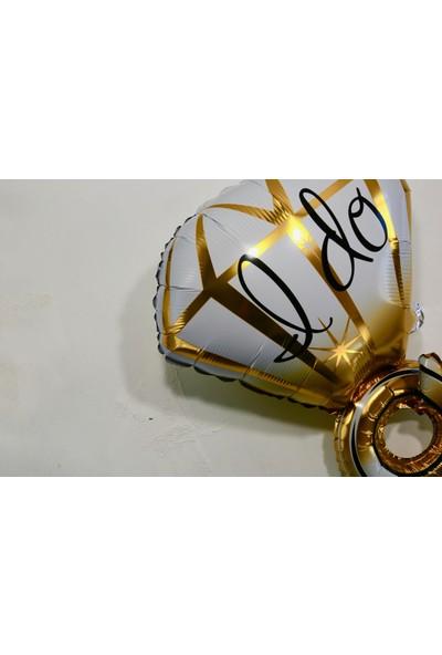 Ohlala Party I Do Yazılı Altın Yüzük Şeklinde Folyo Balon