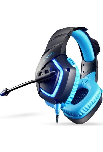 Onikuma K1B With Led Mobil Gaming Kulaklık Siyah/Mavi PC/PS4/XBOX