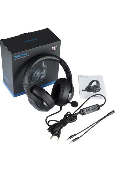 Onikuma K9 Mikrofonlu Kulaklık Siyah/Mavi PC/PS4/XBOX
