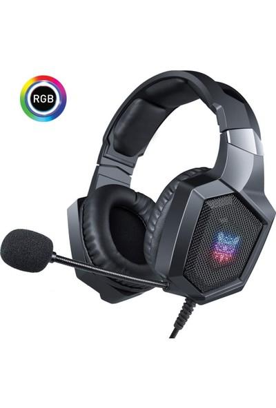 Onikuma K8 RGB Işık Mobil Oyunlar Gaming Kulaklık Siyah PC/PS4/XBOX