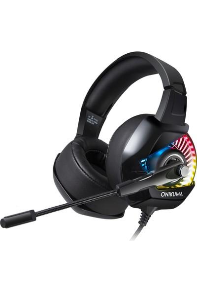Onikuma K6 RGB Gaming Kulaklık Siyah/Mavi PC/PS4/XBOX