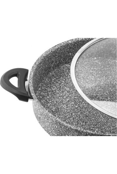 Taç Ultra Granit Basık Tencere 28 cm