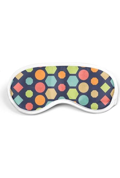 Bi Tıkla Gelsin Renkli Geometrik Şekiller Baskılı Uyku Göz Bandı - RET078