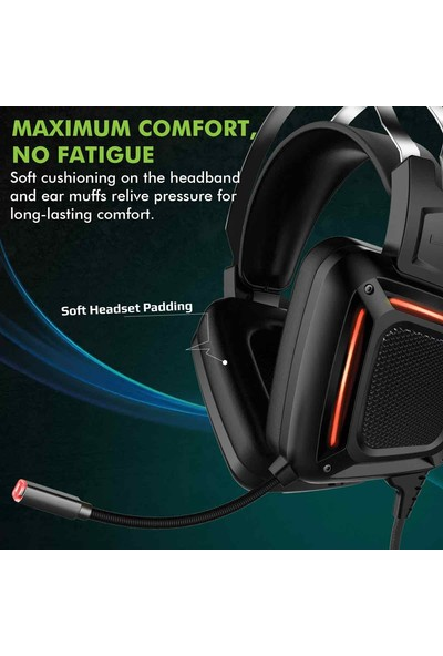 Promate Karma Oyun Kulaklığı Surround Kulak Üstü USB Girişli Mikrofonlu