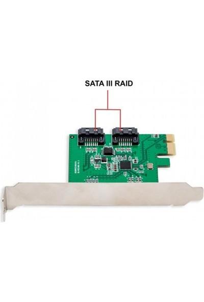 Iocrest 2 Port Sata Iıı Raid 0 / 1 Pcı-E 2.0 X1 Controller Kart (Raıd0 Raıd1 Span)