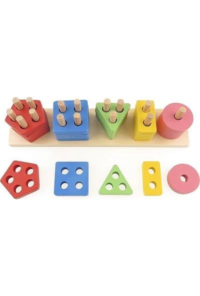 Hi-Q Toys Beşli Geometrik Bultak