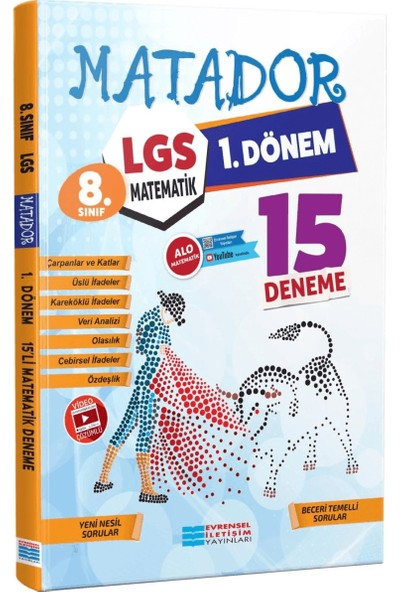 Evrensel Iletişim Yayınları LGS 1. Dönem Matematik 15'li Deneme Video Çözümlü