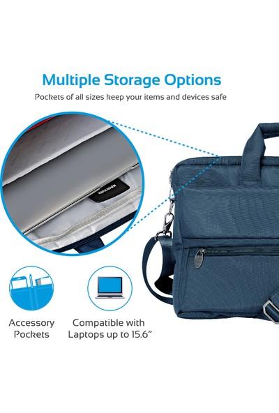 Promate Apollo-Mb Notebook Laptop Messenger Postacı Tip Çanta Su Geçirmez 15,6 inç