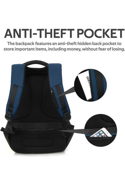 Promate Defender-13 Notebook Laptop Sırt Çantası TSA Kilitli Telefon USB Şarj Bağlantılı 13 inç