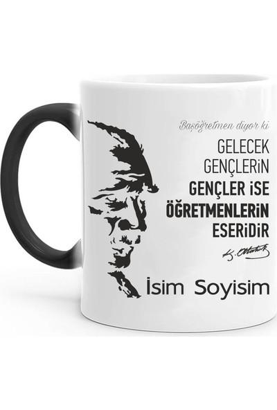 Tasarım Mağazası Kişiye Özel Atatürk Imzalı Sihirli Kupa Bardak