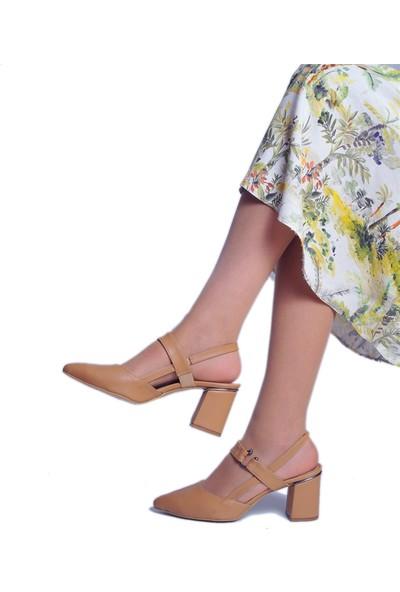 Daymotto Napoli Topuklu Ayakkabı Camel