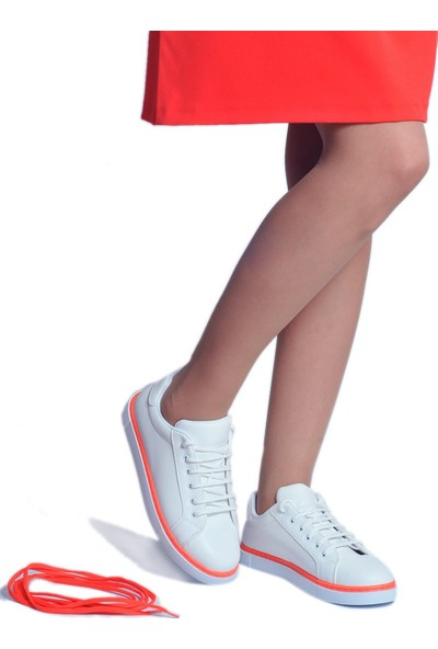 Daymotto Torino Spor Ayakkabı Beyaz Turuncu
