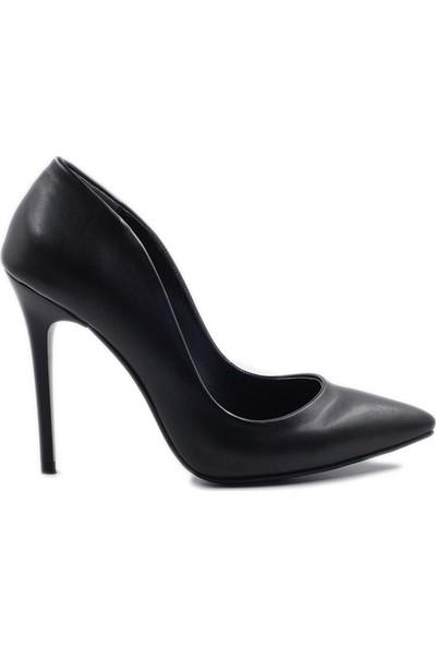 Daymotto New York Stiletto Ayakkabı Siyah