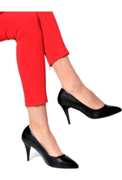 Daymotto London Stiletto Ayakkabı Siyah