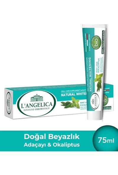 L'Angelica Doğal Beyazlatıcı (Natural Whitening) Okaliptus,Adaçayı,Nane Diş Macunu 75ml