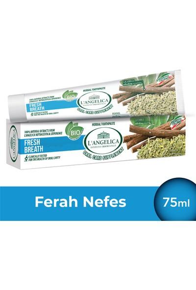 L'Angelica Taze Nefes (Fresh Breath) Nane,Meyan Kökü,Rezene Diş Macunu 75 ml