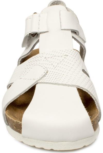 Vicco 905.b20Y.086 Bebe Deri Beyaz Çocuk Sandalet