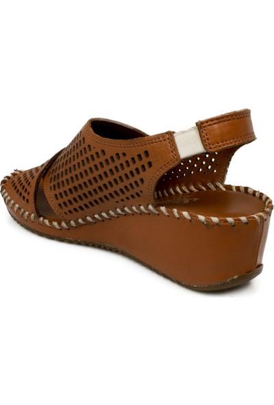 Stella 20267Z Casual Günlük Dolgu Topuk Taba Kadın Sandalet