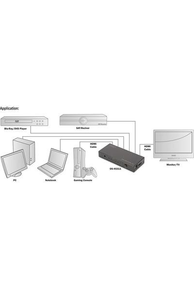 Digitus DS-45311 4K 5 x 1 HDMI 2.0 Switch