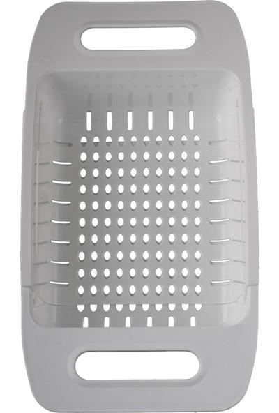 Pan-Pot Krem Sürgülü Plastik Süzgeç