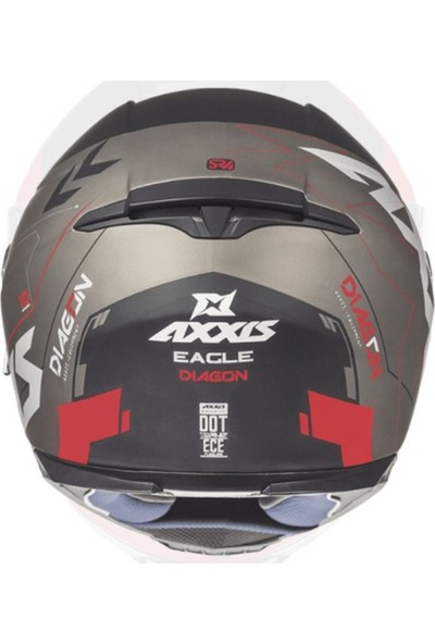Axxis Eagle Sv Diagon Gloss Red XL
