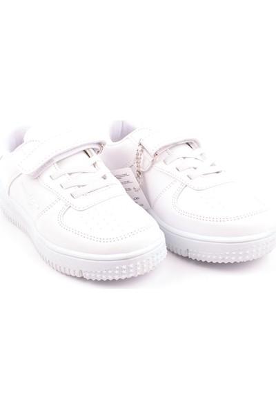 Cool Anatomik Tek Renk Antibakteriyel Çocuk Günlük Spor Ayakkabı Beyaz 31