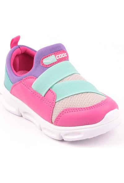 Cool Anatomik Antibakteriyel Çocuk Günlük Spor Ayakkabı Fuşya Buz Mor 27