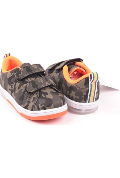 Cool Anatomik Antibakteriyel Işıklı Kamuflaj Çocuk Günlük Spor Ayakkabı 22