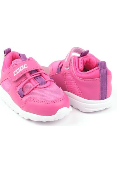 Cool Anatomik Antibakteriyel Işıklı Çocuk Günlük Spor Ayakkabı Fuşya 22