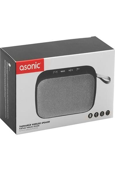 Asonic AS-02 Gümüş Bluetooth 3W TF/USB Destekli Speaker