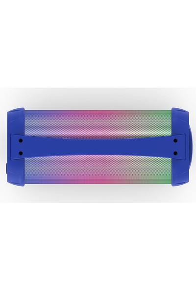 Mikado MD-193BT Mavi 1 x 8W 1200mAh BT/ USB/TF/AUX/TWS/Işıklı Speaker