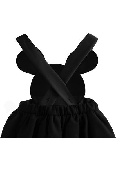 Shecco Babba Kız Çocuk Tütü Elbise Fiyonklu Siyah 1-4 Yaş