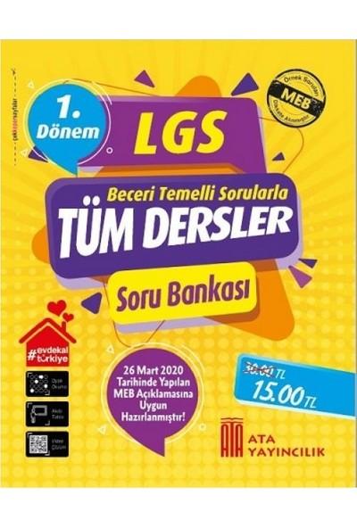 Ata Yayıncılık 8.sınıf LGS Tüm Dersler Soru Bankası - 1.dönem