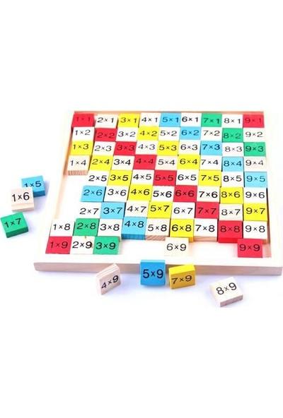 Ayas Eğitici Oyuncak Ahşap Matematik Çarpım Tablosu Öğreniyorum