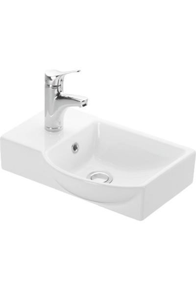 Esvit Litos Dolap Uyumlu Lavabo Sol-4779 45 cm Beyaz