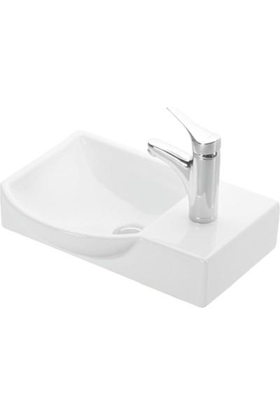 Esvit Litos Dolap Uyumlu Lavabo Sağ-4079 45 cm Beyaz