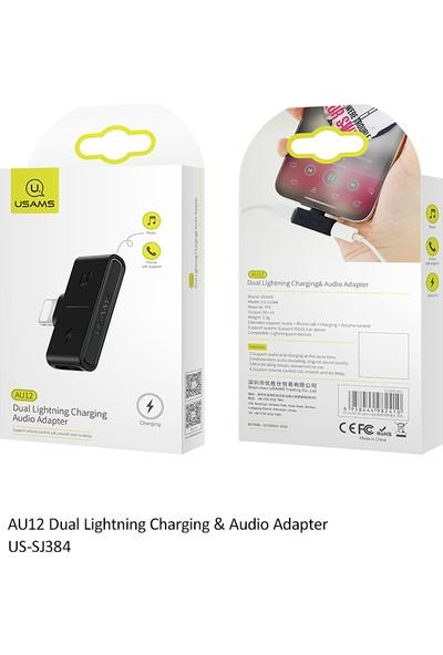 Usams AU12 Lightning Çoğaltıcı Siyah