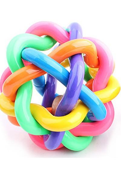 Yukka Köpek Oyun Topu Bulmaca Etkileşimli Oyuncak Renkli Kauçuk Top Large
