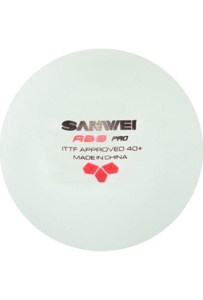 Sanwei ABS 3 Yıldız ITTF Onaylı 6 lı Masa Tenisi Maç Topu