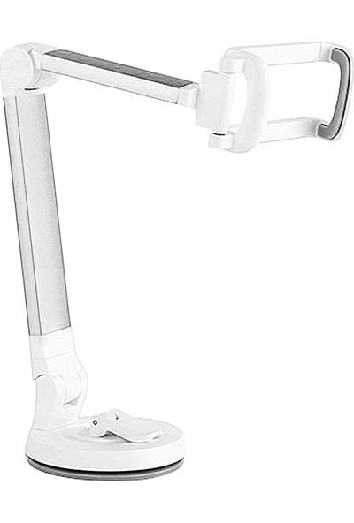 Wlue Telefon Tutucu 360° Ayarlanabilir Vantuzlu Gümüş
