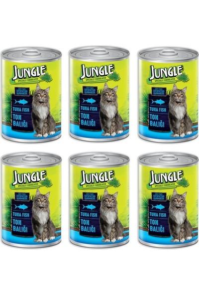 Jungle Ton Balıklı Konserve Kedi Maması 415 gr 6'lı