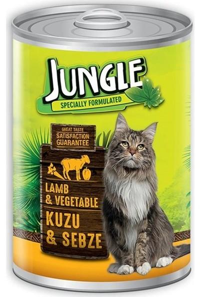 Jungle Kuzu Etli Sebzeli Konserve Kedi Maması 415 gr 6'lı