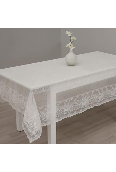 Hepsi Home Masa Örtüsü Narin - Krem 150 x 220 cm