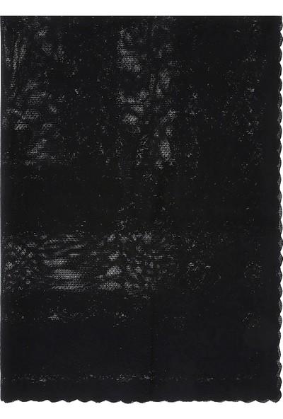 Hepsi Home Masa Örtüsü Narin - Siyah 150 x 220 cm