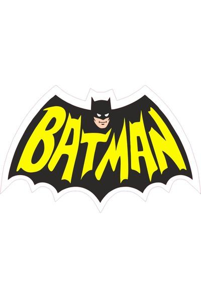 Sticker Fabrikası Batman Sticker 00217 16 x 9 cm Renkli