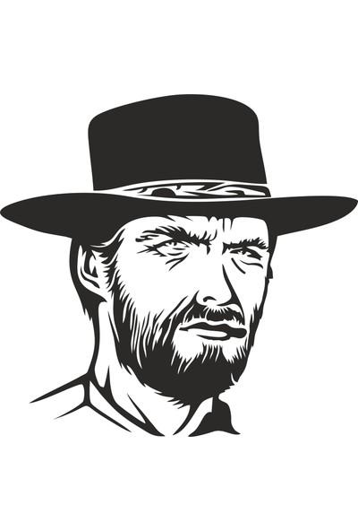 Sticker Fabrikası Clint Eastwood Sticker 00233 12 x 12 cm Renkli